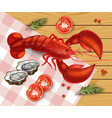 lobster realistic fresh detailed seafood vector image vector image
