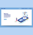 medical consultation online isometric promo vector image vector image