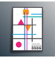 modern design with geometric shapes for wallpaper vector image vector image