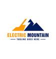 modern electric mountain logo vector image vector image
