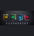 modern futuristic counter countdown with colorful vector image vector image