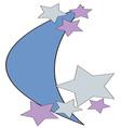 Moon Stars vector image vector image