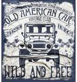 old american car vintage classic retro man t vector image