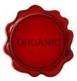 ORGANIC wax seal vector image vector image
