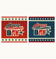 patriotic label happy independence day vector image vector image