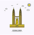 petronas towers monument poster template world vector image