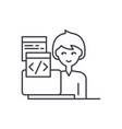 programming line icon concept programming vector image vector image