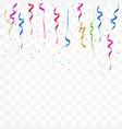 realistic colorful bright confetti vector image vector image