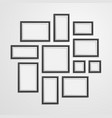 realistic detailed 3d black blank photo frames vector image vector image