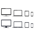 realistic set monitor laptop tablet vector image vector image