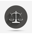 Scales of Justice sign icon Court of law symbol vector image vector image