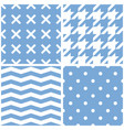 seamless pattern set with white polka dots vector image vector image