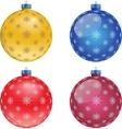 set colorful christmas balls vector image vector image