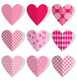 set heart polka dots 380 vector image