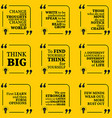 Set of motivational quotes about learning thinking vector image vector image