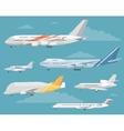 set variety aircraft flat style vector image
