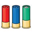 Shotgun shells vector image vector image