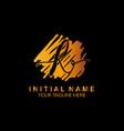 signature letter r logo calligraphic lettering