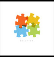 solution - abstract puzzle concept vector image vector image