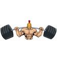 spartan gym mascot vector image vector image