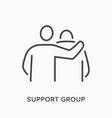 support group flat line icon outline vector image