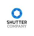 Symbol of camera shutter logo design