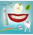 Teeth Hygiene 01 A vector image vector image