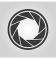 The diaphragm icon Aperture symbol vector image vector image