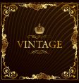 vintage gold frame decorative background vector image vector image
