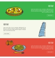 Visit Italy Touristic Web Banners vector image vector image