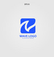 wave logo design minimalist and elegant concept vector image
