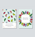 wedding vintage invitation card templates set vector image vector image