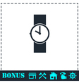 Wristwatch icon flat vector image vector image