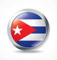Cuba flag button vector image