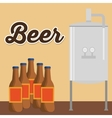 brewery beer bottles production poster vector image