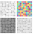 100 city icons set variant vector image vector image