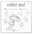 A worksheet showing a rain with cats and dogs