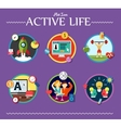active life collection of vector image vector image