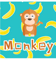 animal monkey cartoon monkey background ima vector image vector image