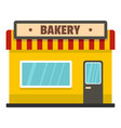 bakery shop icon flat style vector image