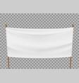 blank template white banner vector image