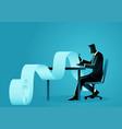 businessman working on paperwork vector image