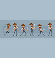 cartoon cowboy or sheriff character big set vector image vector image
