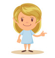 cartoon cute girl stands in a confident pose vector image