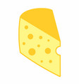 cheese piece vector image
