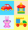 childrens toys for play time set vector image