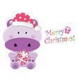 christmas children card vector image vector image