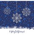 christmas snowflake decoration vector image vector image