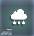 cloud rain icon On the blue-green abstract vector image vector image