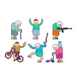 cool grandmother set grandma rock hand sign on vector image